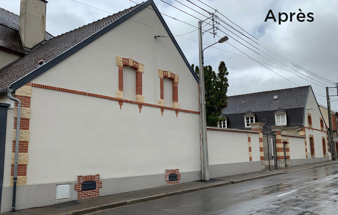 façade rénovée par Aisne Bâtiment à Dizy